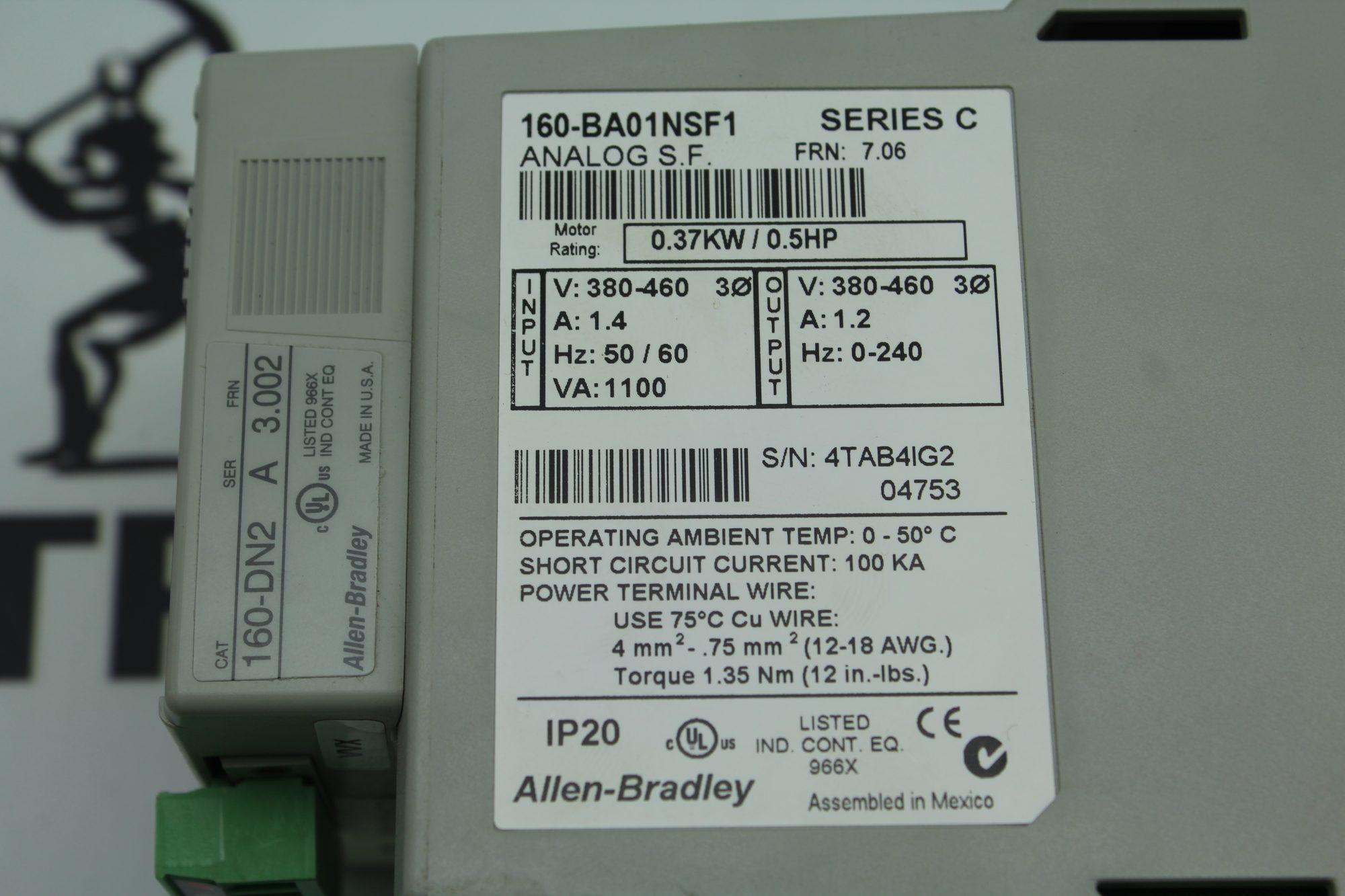 Allen Bradley 160 Vfd Wiring - Enthusiast Wiring Diagrams •