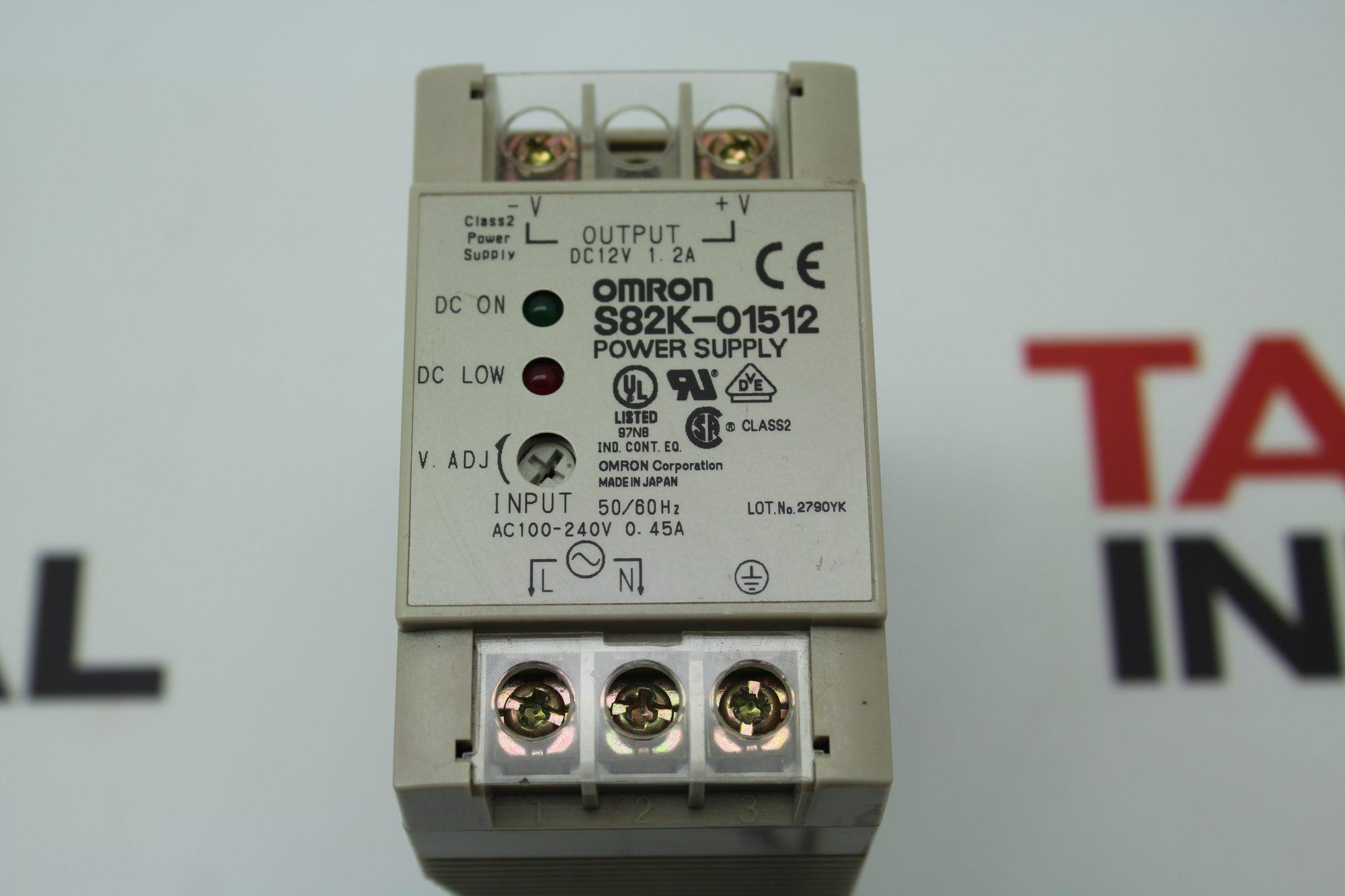 Omron S82k 01512 Power Supply S82k01512 24vdc 45a