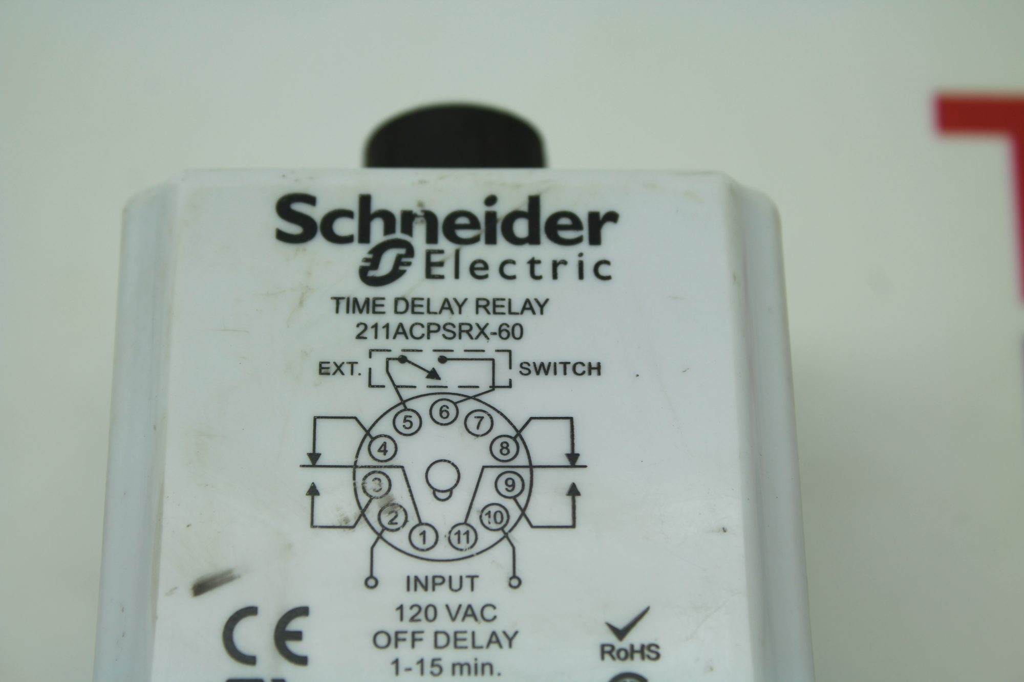 Schneider Time Delay Relay 211acpsrx 60 On Off