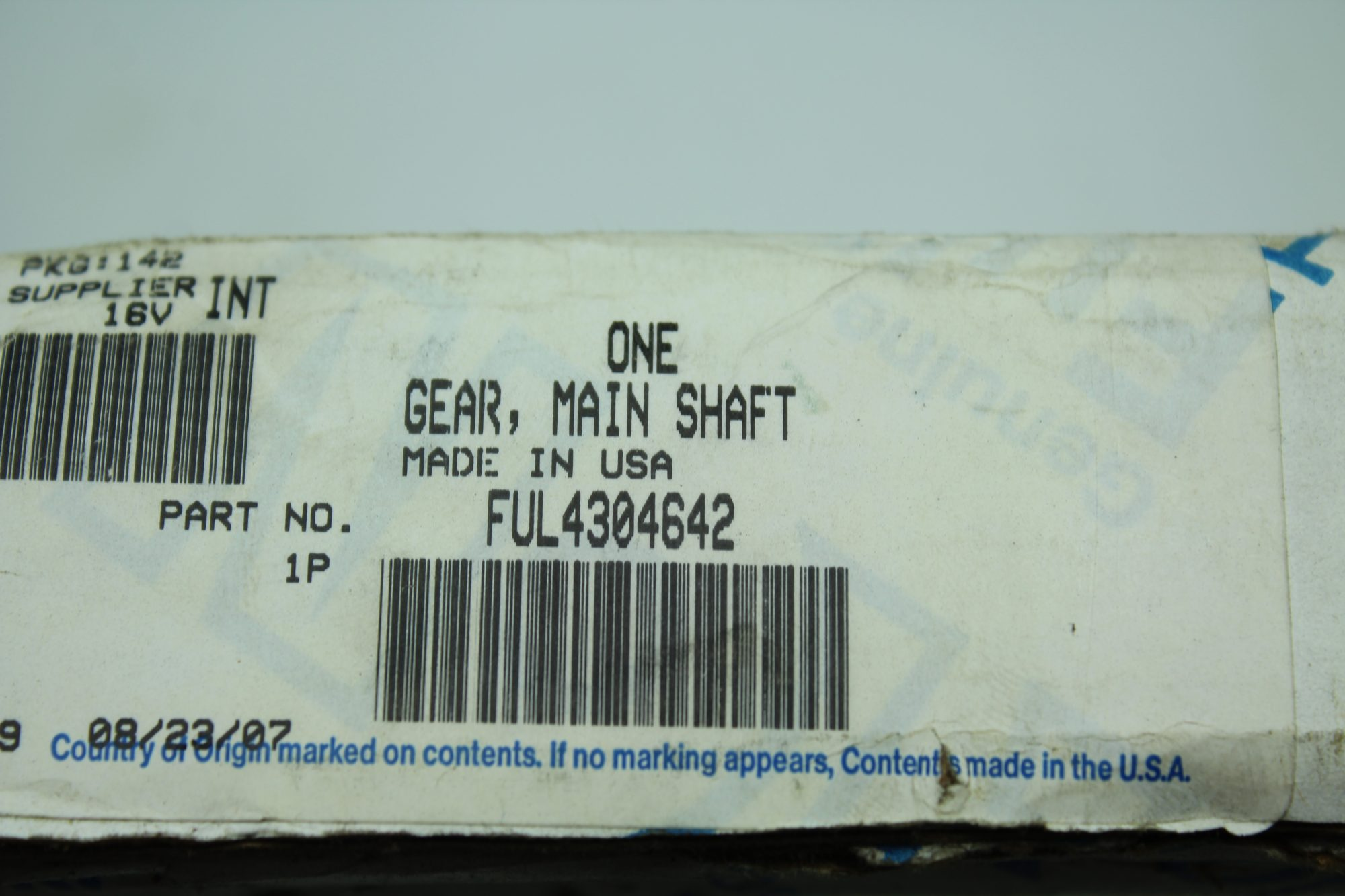 Eaton Fuller Transmission Parts One Gear, Main Shaft FUL4304642