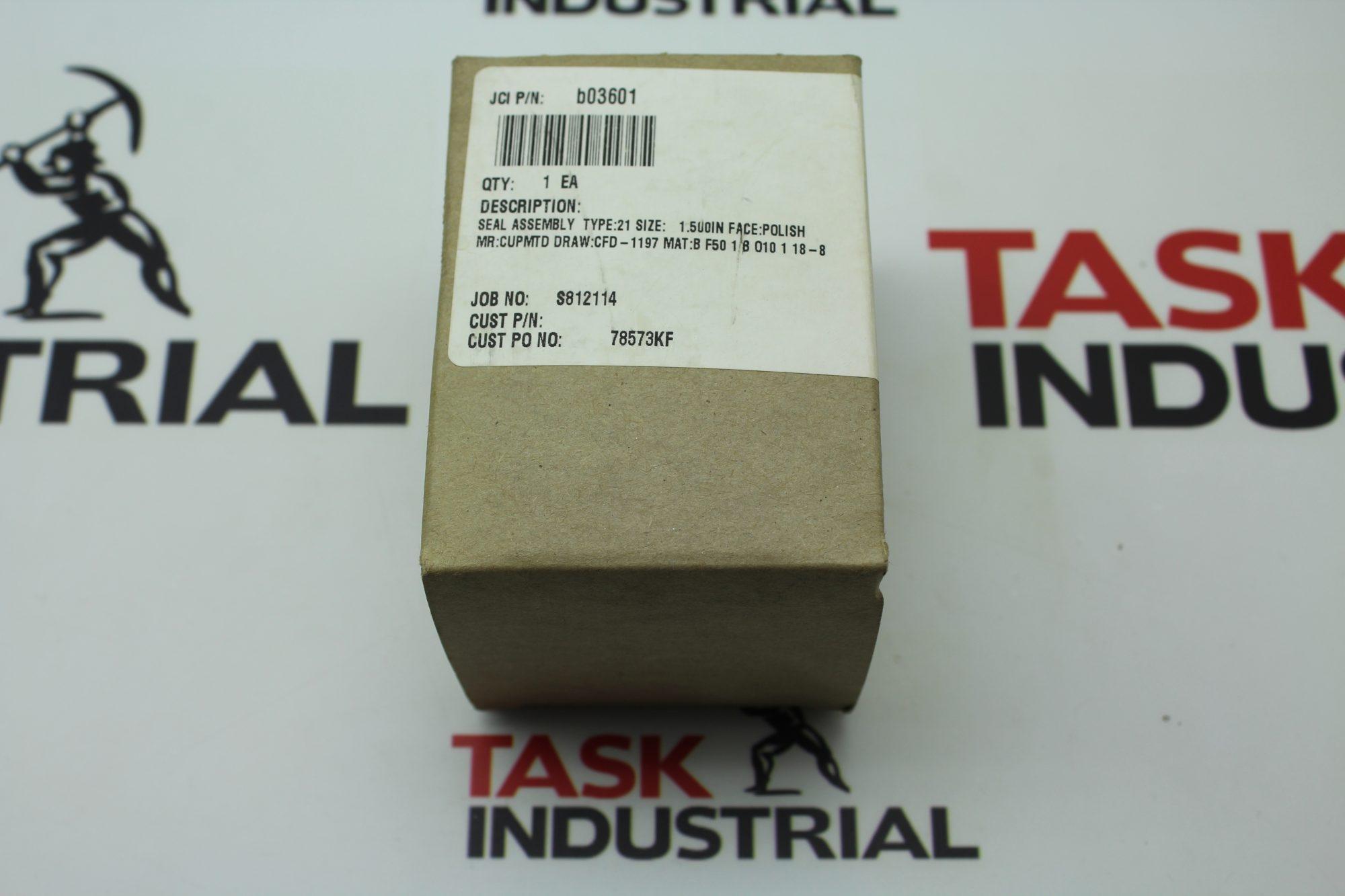 John Crane Seal Assembly Type: 21 Size: 1.5'' B03601