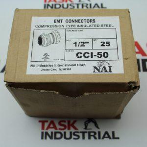 """NAI EMT Connectors Size 1/2"""" Box of 25 CCI-50"""