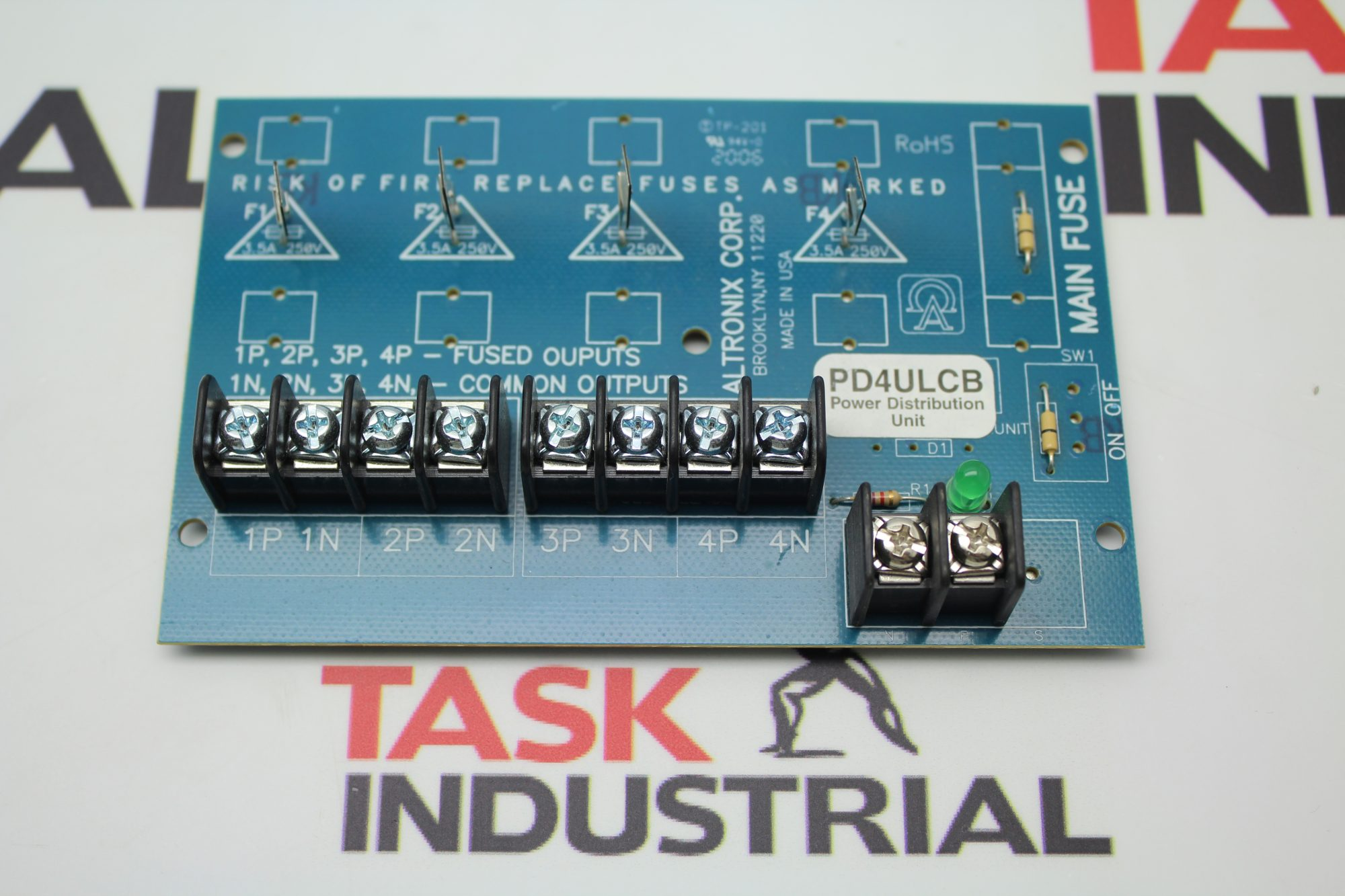 Components Archives Task Surplus Altronix Timer Relay Wiring Diagram Corp Pd4ulcb Power Distribution Unit