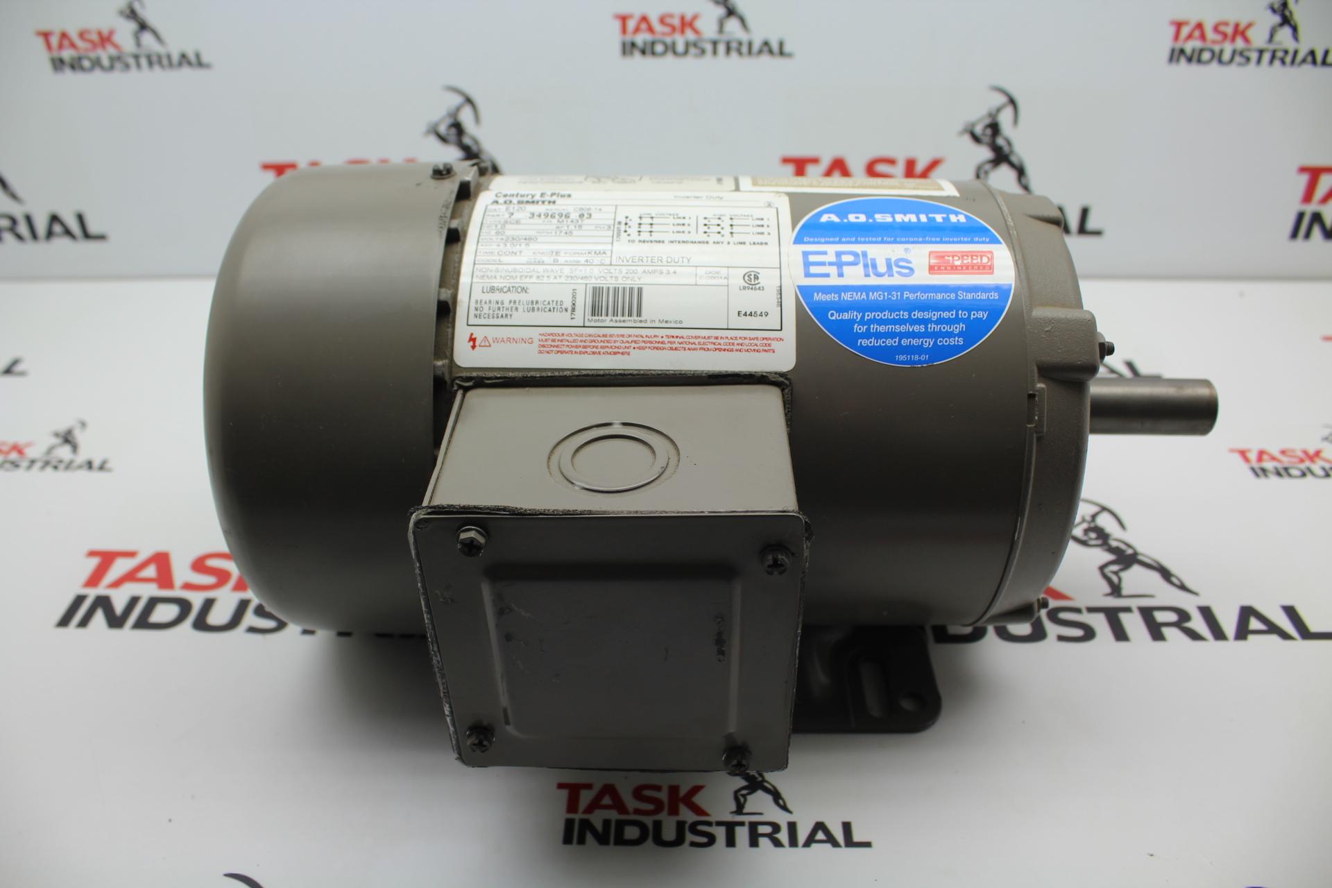 Century Inverter Duty E120 7-349696-03 1 HP, 1175 RPM, M143T FRAME, 3 PH, Motor