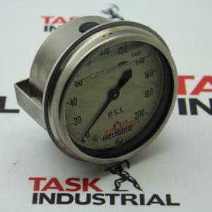 Helicoid Gauges E1P3F5A2AX000 310 SSFM 4BK 0/200 PSI, S2, M 863006