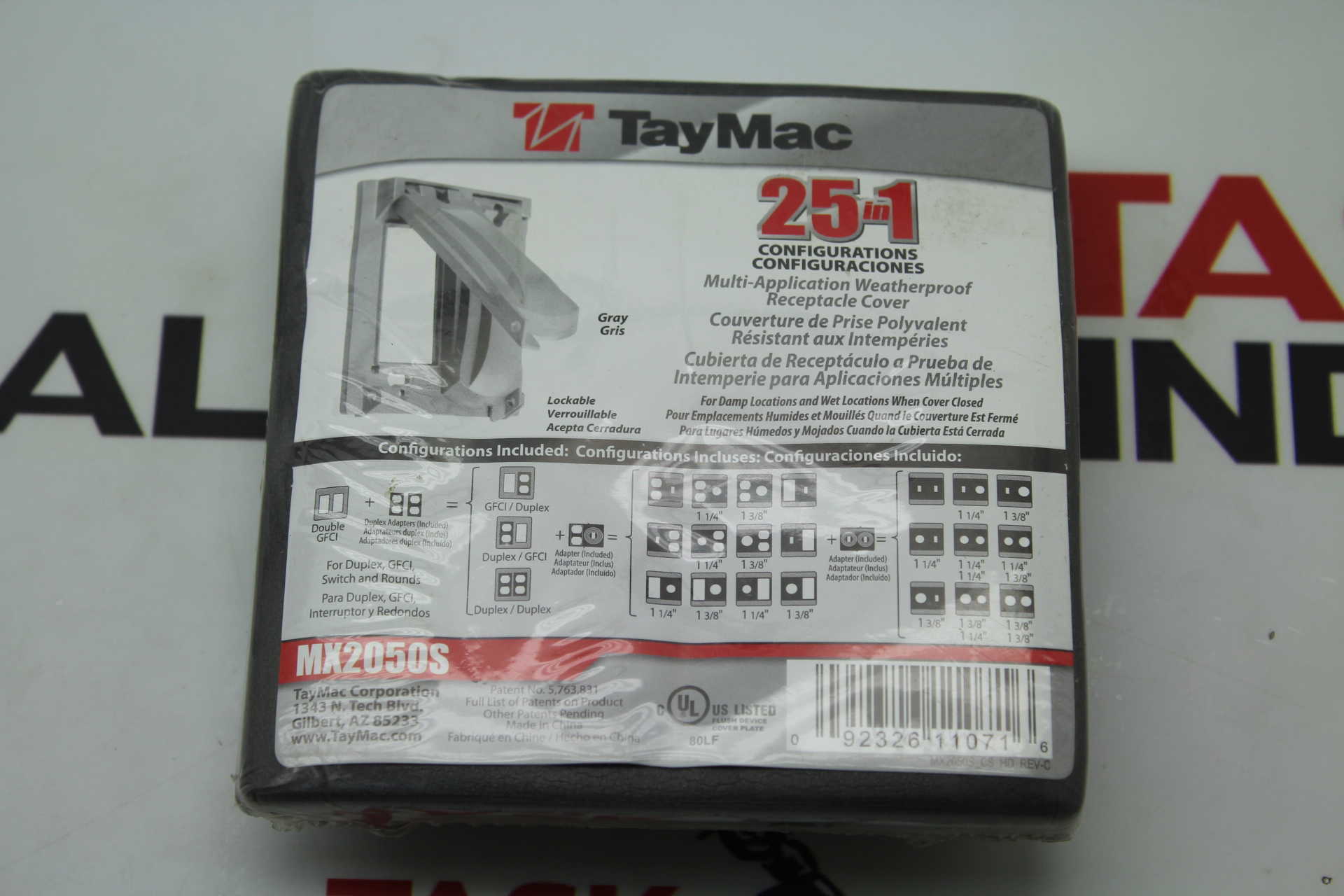 TayMac MX2050S Multi-Application Weatherproof Receptacle Cover
