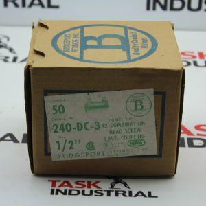 "Bridgeport Fittings Inc 240-DC-3 Size 1/2"" Box of 50 Concrete Tight Combination Head Screw E.M.T."