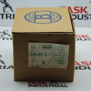 "Bridgeport Fittings Inc Concrete Tight Combination Head Screw E.M.T. Coupling Cat No 245-DC-3 Size 2"" Box of 10"