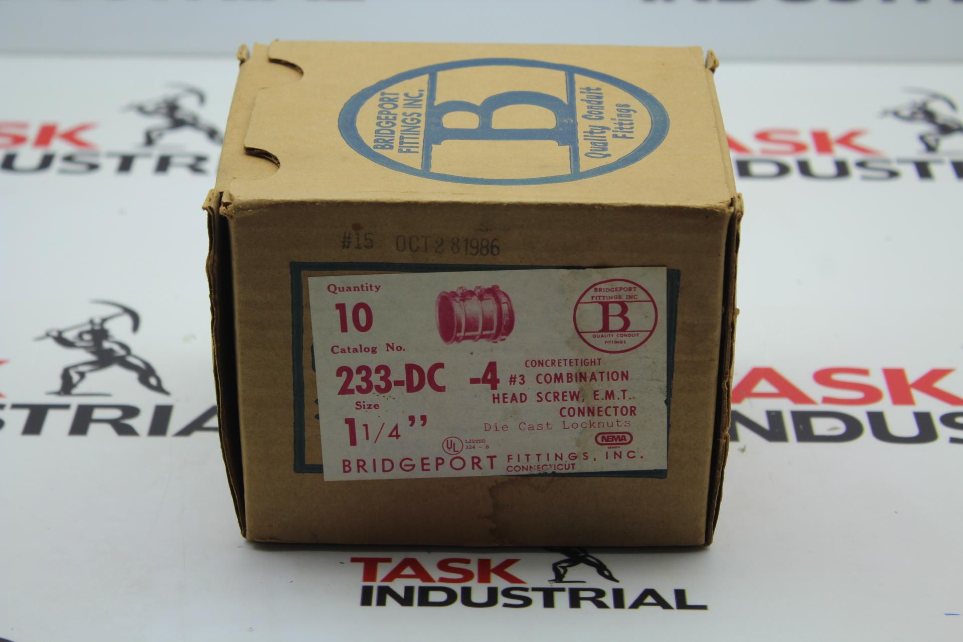 """Bridgeport Fittings Concrete Tight E.M.T. Coupling Cat No 233-DC-4 1-1/4"""""""