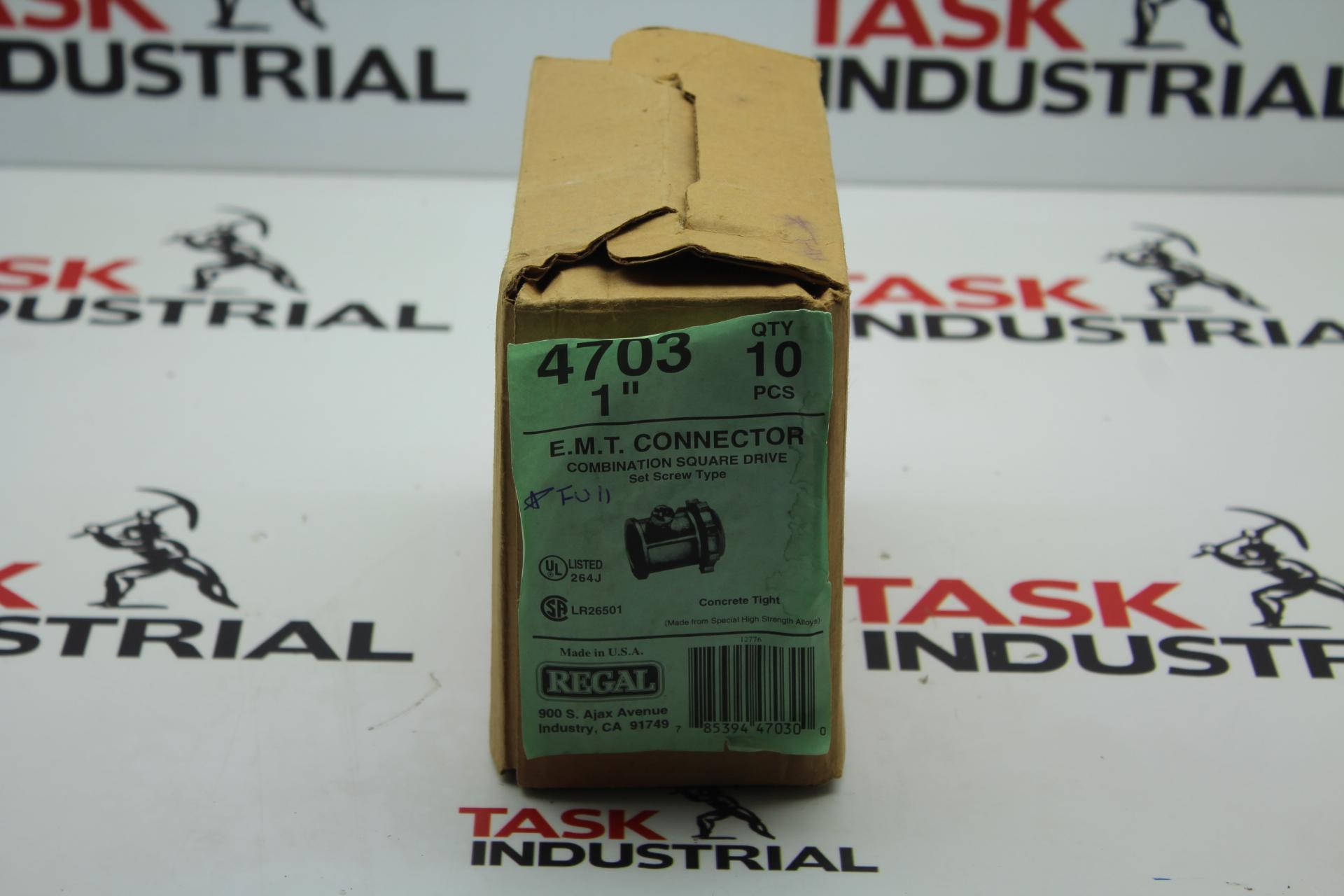 """Regal 4703 E.M.T. Connector Qty 10 Size 1"""""""