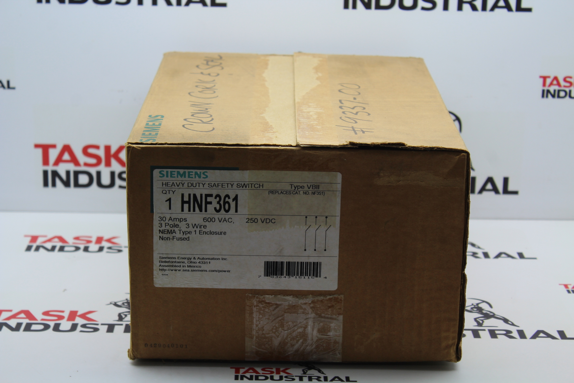 Siemens Hnf361 30 Amp 3 Pole 600 Volt Wire Non Fused Heavy Duty Fuse Switch Box Safety
