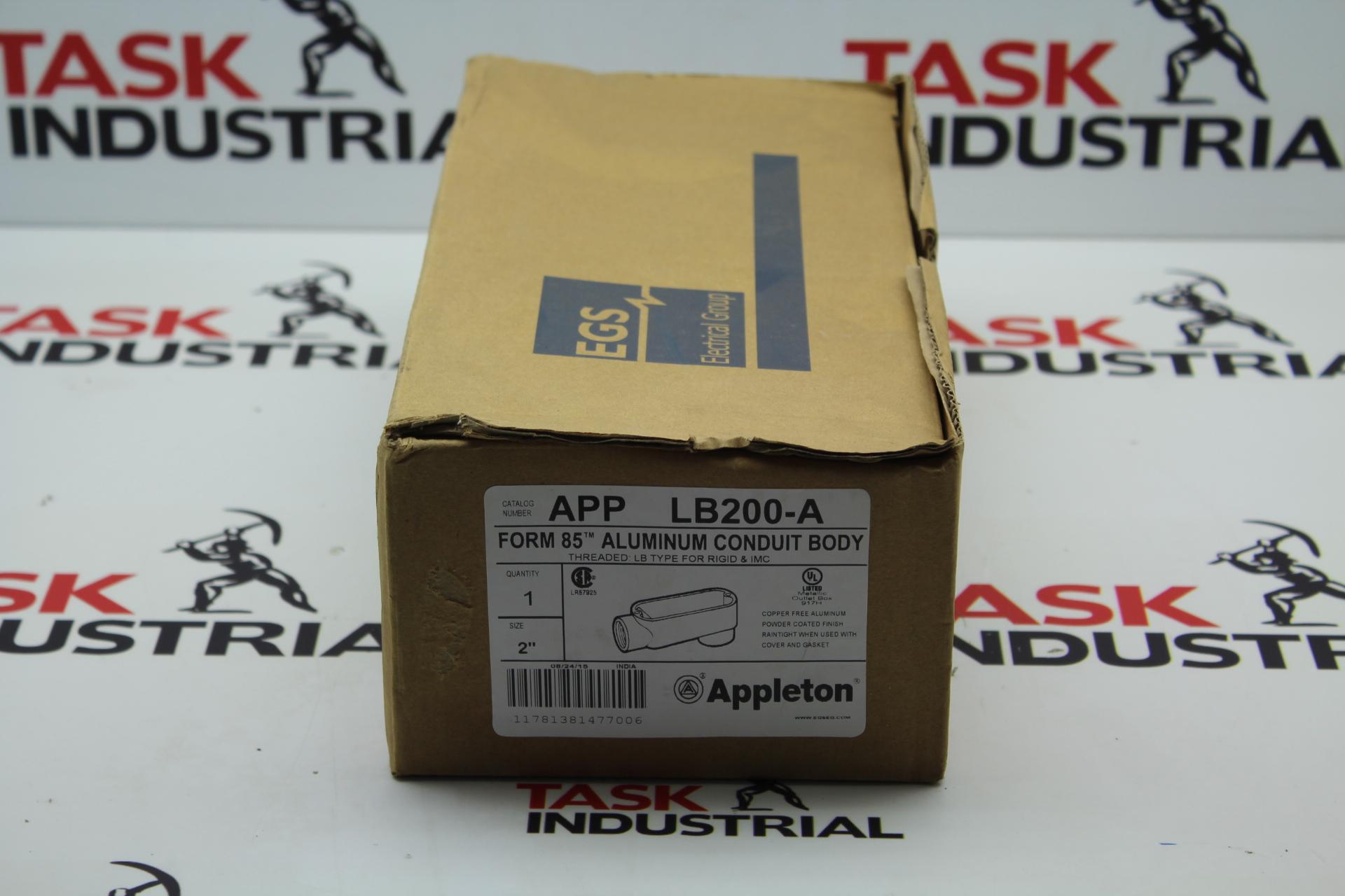 """Appleton Form 85 Aluminum Conduit Body Qty 1 Size 2"""" LB200-A APP"""