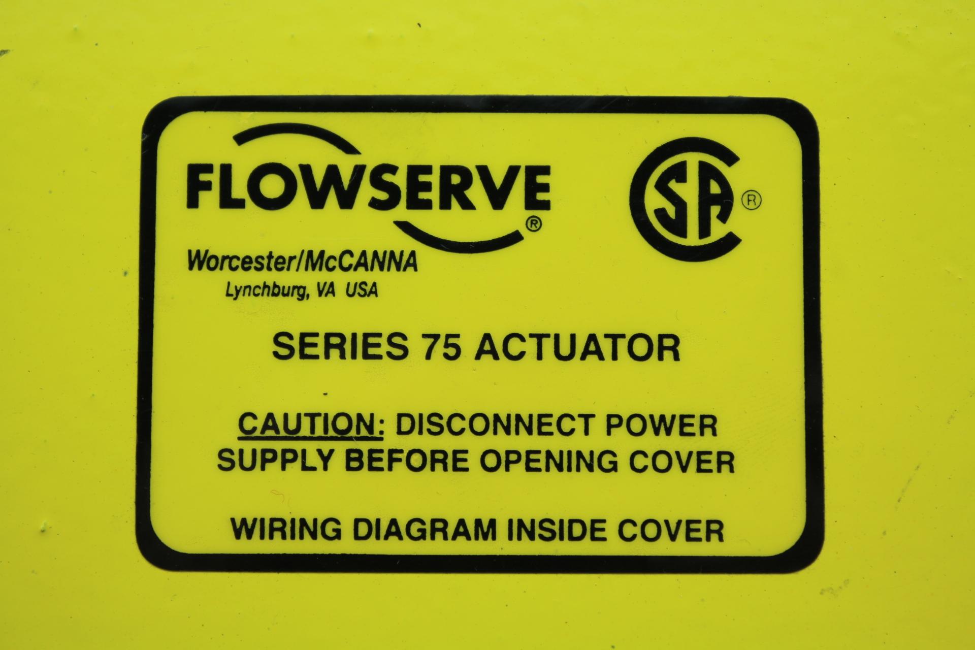 Flowserve Wiring Diagram Detailed Schematics Limitorque L120 Series 75 Actuator Model 25h754z 120a Basic