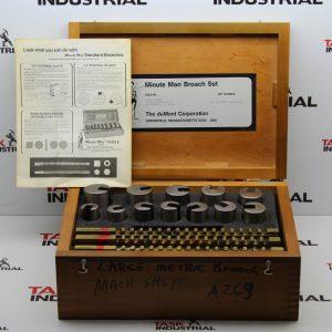 Large Metric Broach Machine Tool Set No. 80 Metric Broach Set