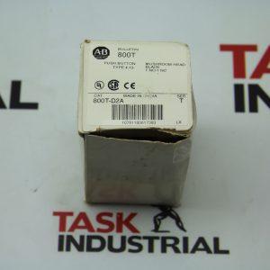 Allen-Bradley Push Button Type 4,13 Mushroom Head Black 1NO-1 NC CAT 800T-D2A Ser. T