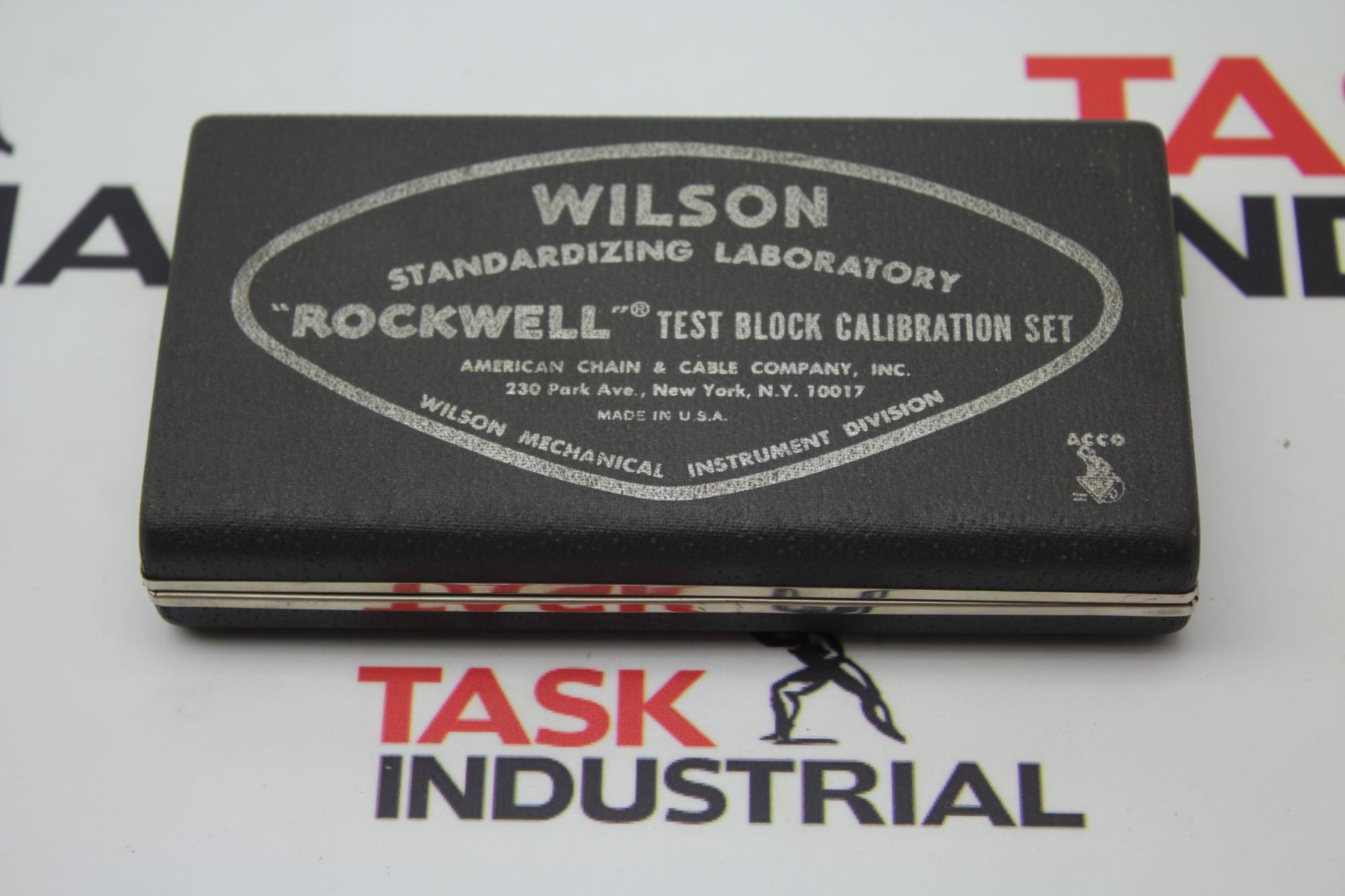 "Wilson ""ROCKWELL"" Test Block Calibration Set"