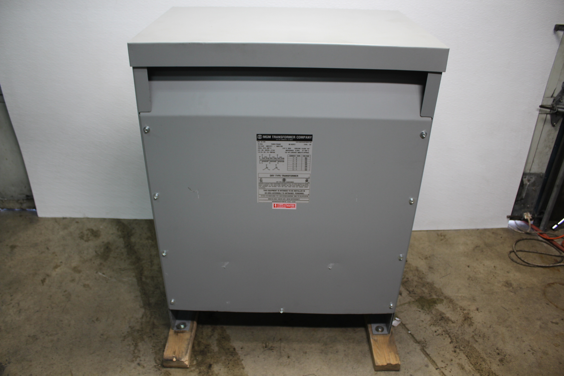 MGM Transformer Company CAT. NO. AD370-J1144 75KVA DRY TYPE TRANSFORMER