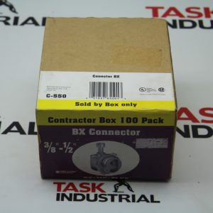"Sigma Electric BX Connector Box of 100 3/8""-1/2"" C550"
