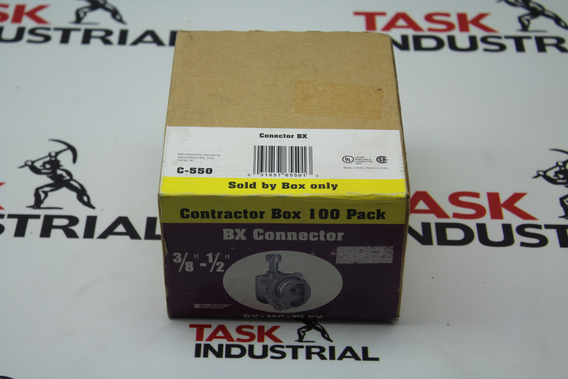 """Sigma Electric BX Connector Box of 100 3/8""""-1/2"""" C550"""