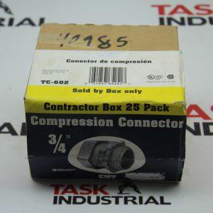"Sigma Electric Compression Connector Box of 25 3/4"" TC-602"