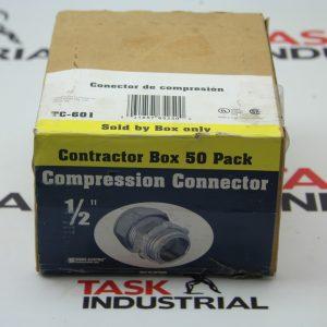 "Sigma Electric Compression Connector 1/2"" TC-601 Box of 50"