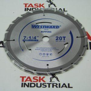 """Westward T.C.T. Circular Saw Blade 7-1/4"""" X 20T"""