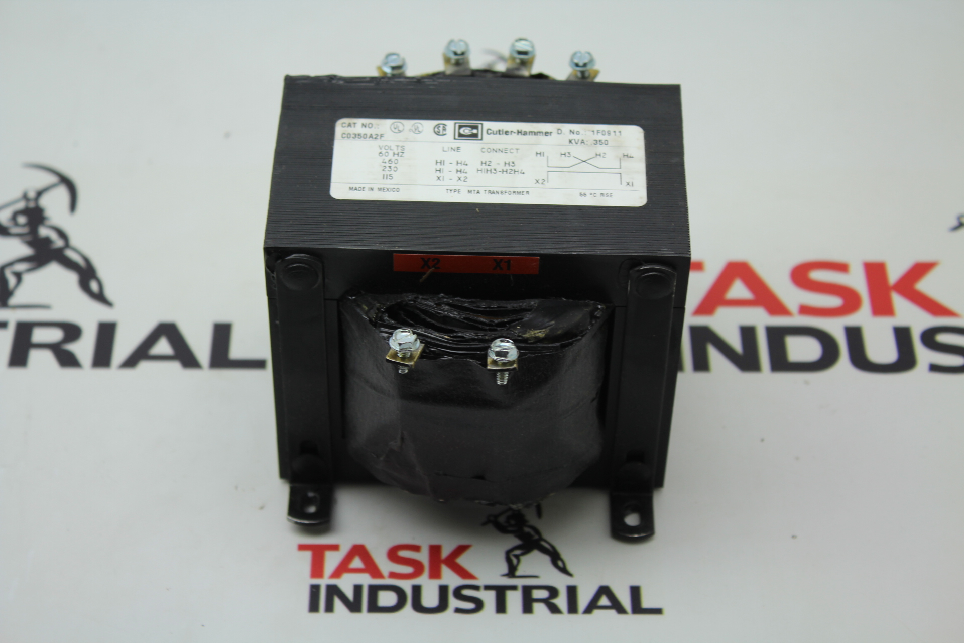 Cutler-Hammer Control Transformer Cat No. C0350A2F KVA: .350, PH 1