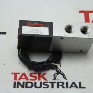 Humphrey 420 24V DC 8.0 W 0-125 PSI Solenoid Valves