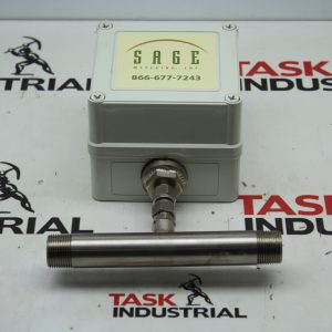 "Sage Metering SIL-075-DC24-NG Flow Meter 0-80.5 SCFH @ 5 PSIG for .75"" SCH 40"