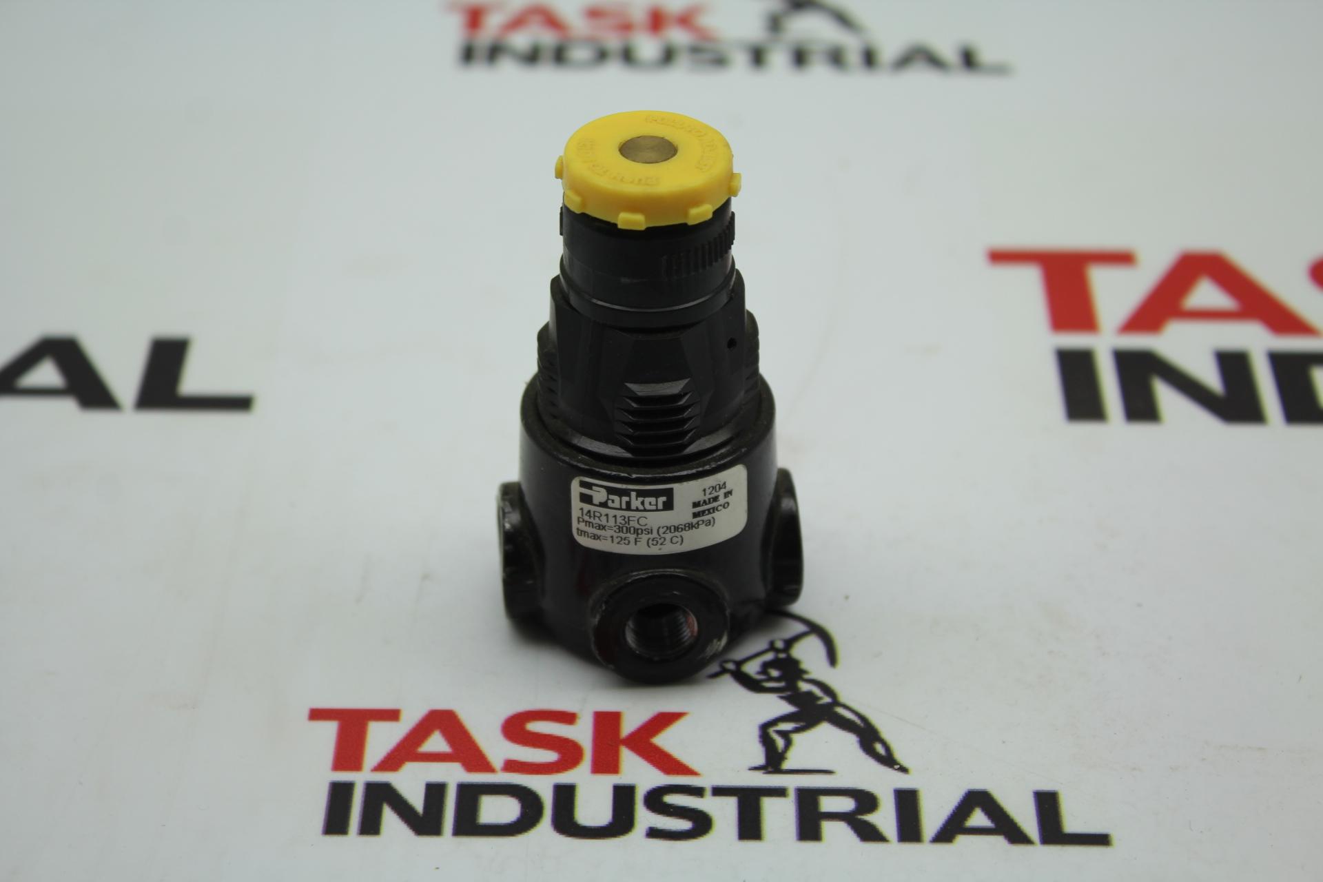 Parker 14R113FC Pressure Regulator Pmax=300psi
