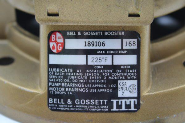 Bell & Gossett Booster 189106
