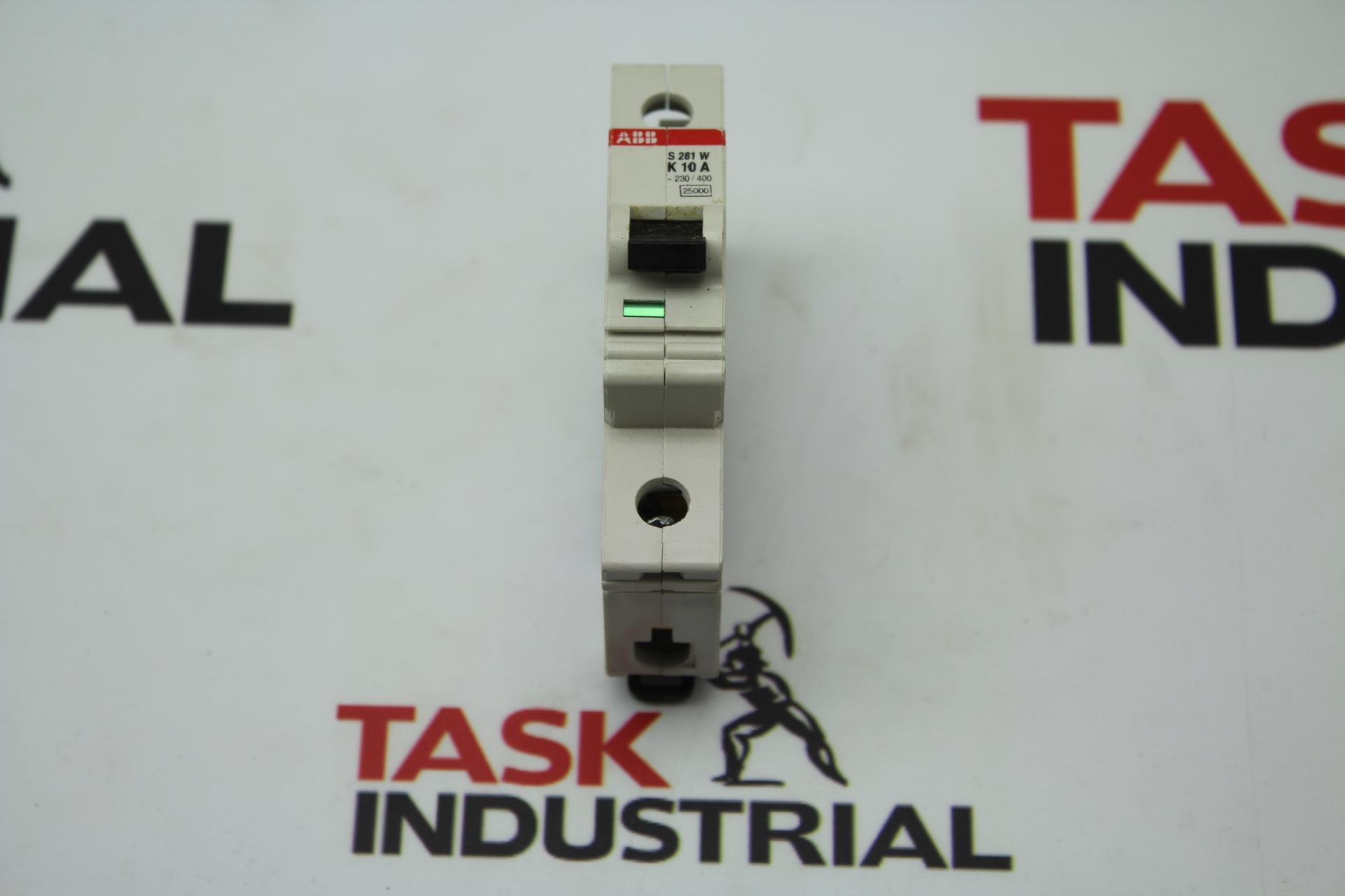 ABB S 281 W K 10 A Circuit Breaker (Lot of 6)