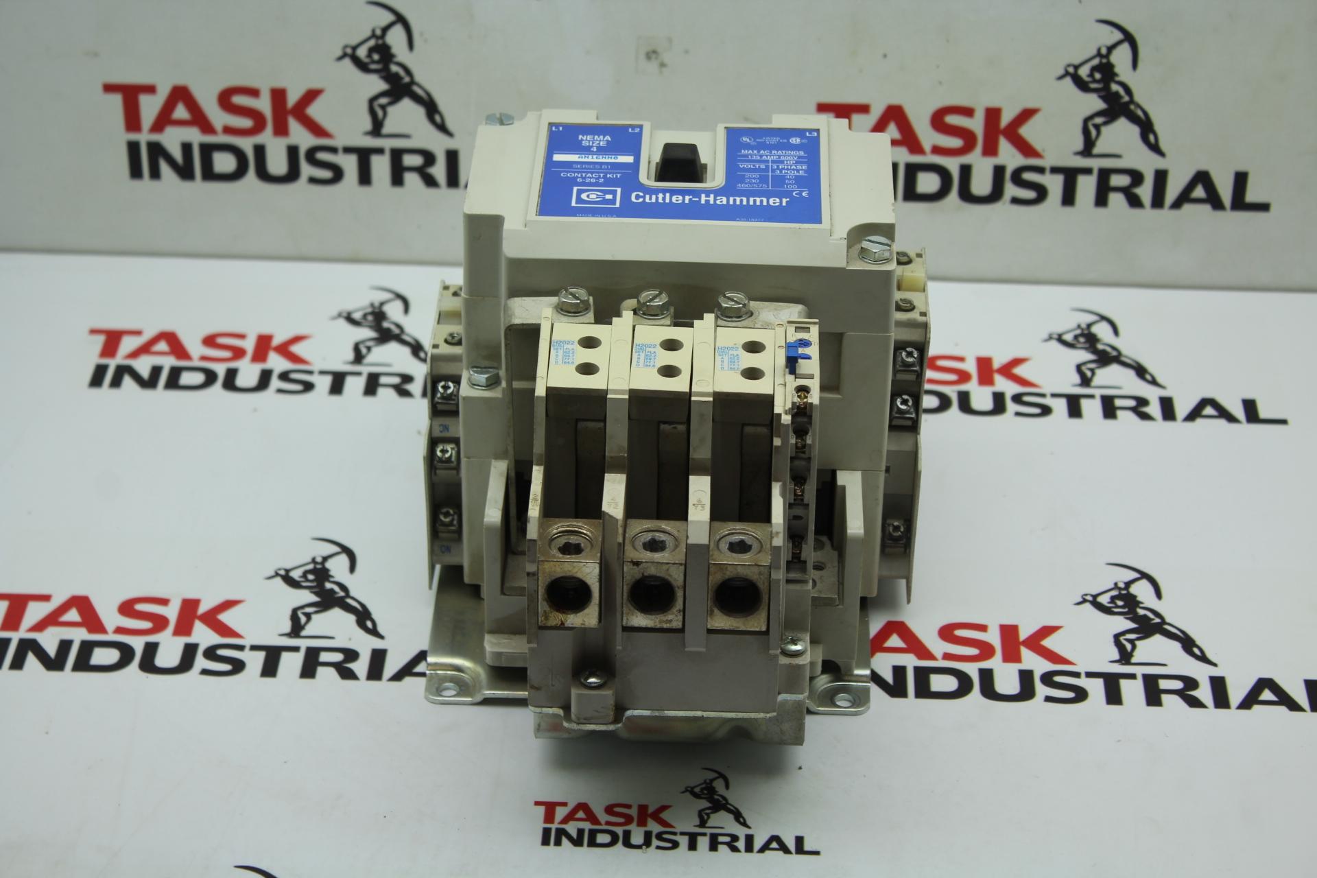 Cutler-Hammer NEMA Size 4 AN16NN0 Series B1 Contact Kit 6-26-2