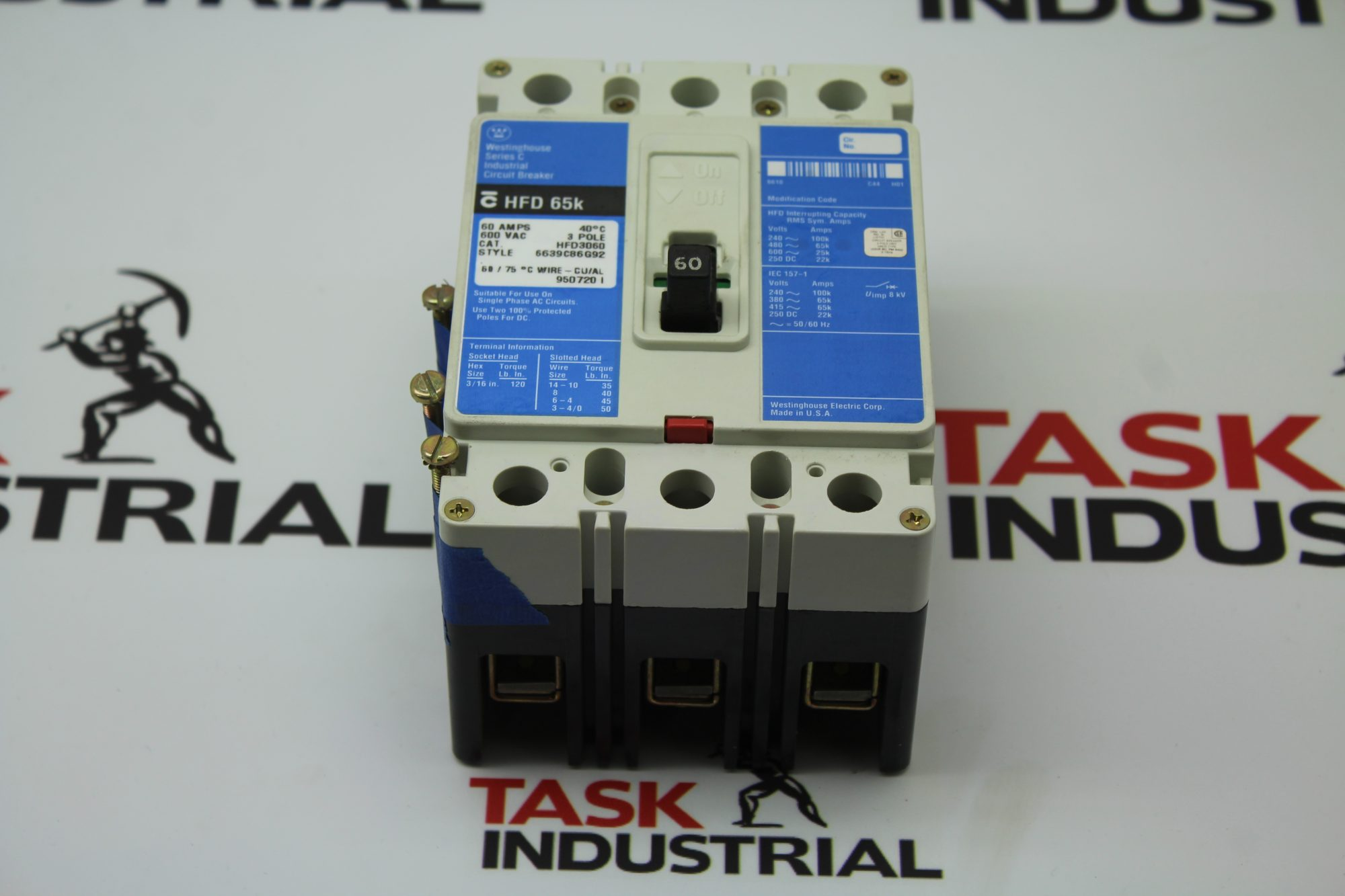 Westinghouse Series C HFD 65k CAT HFD3060 Circuit Breaker