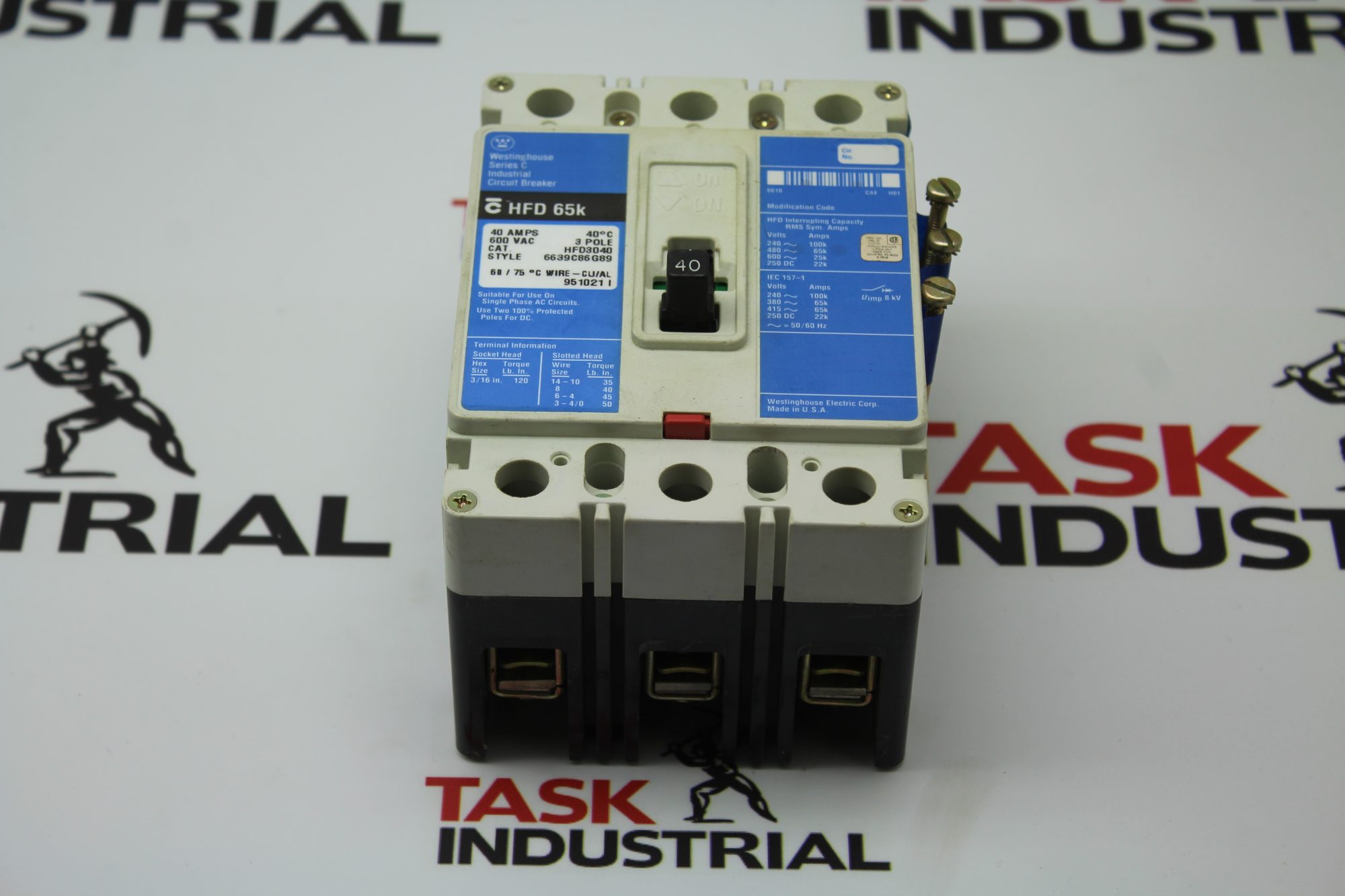 Westinghouse Series C HFD 65k CAT HFD3040 Circuit Breaker