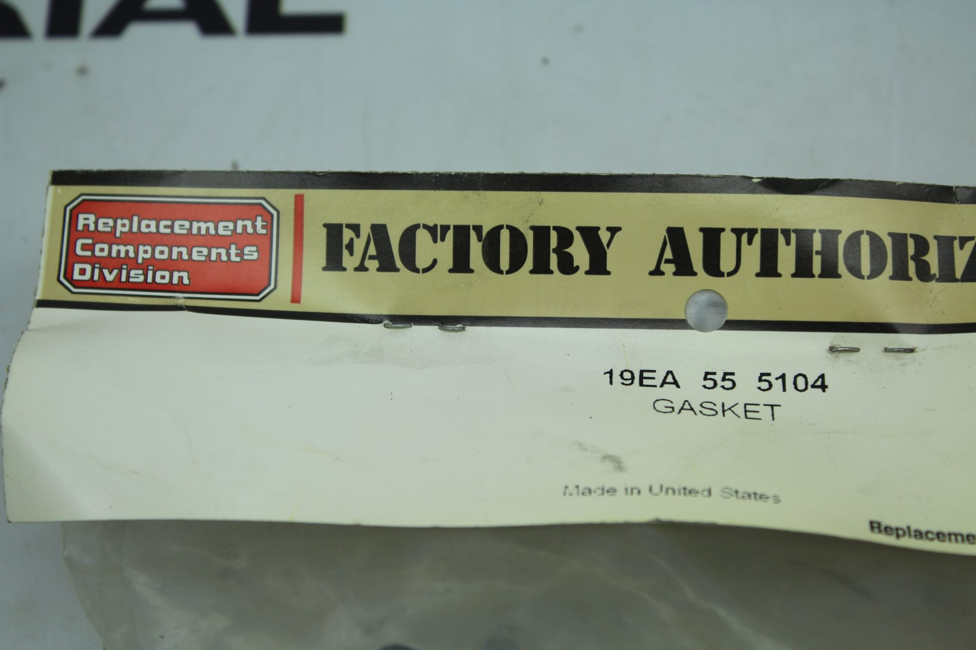 Factory Authorized Parts 55 5104 Gasket 19ea