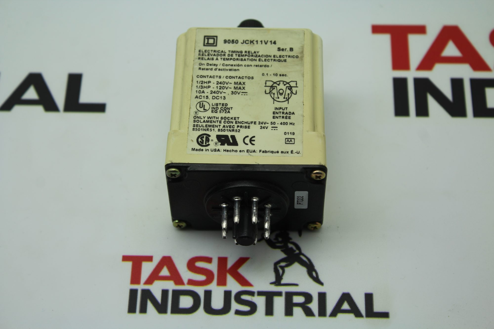 Square D 9050 JCK11V14 Electrical Timing Relay