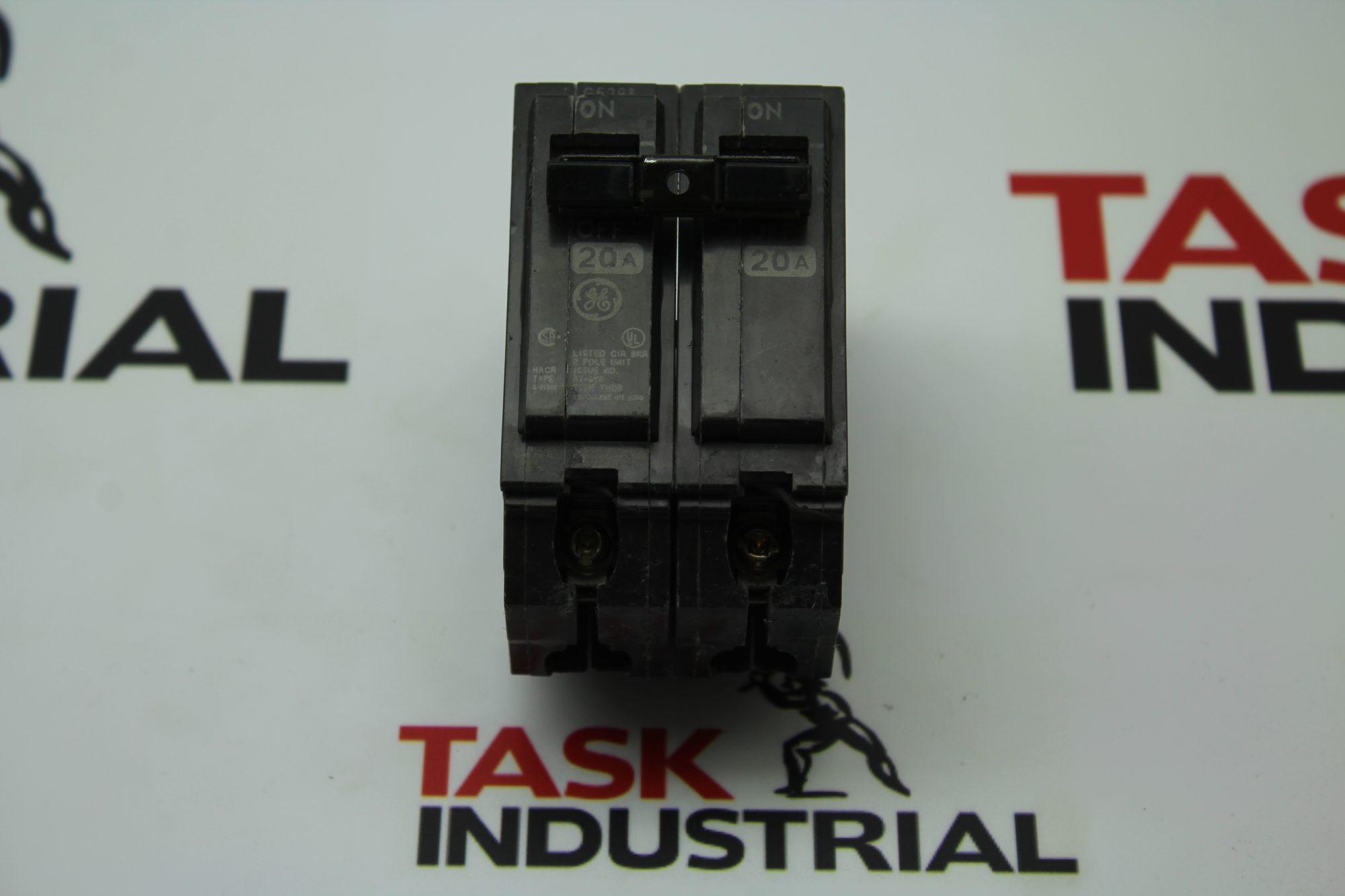 GE 20A 2 Pole Circuit Breaker