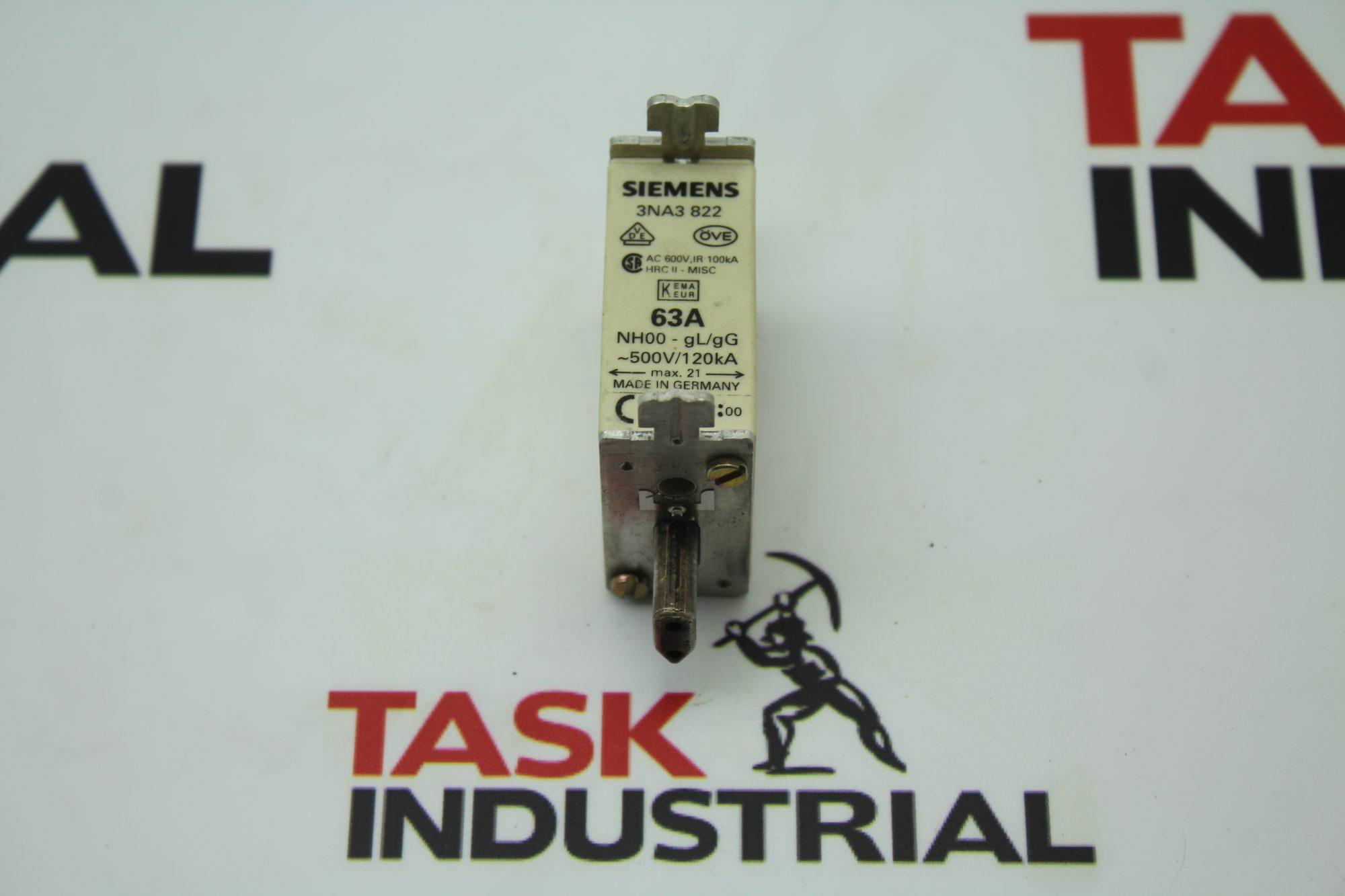 Siemens 3NA3 822 Fuse Link 63A