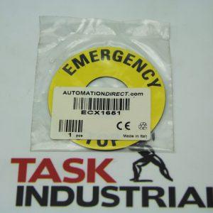 Automation Direct ECX1651 Emergency Stop Legend Plate