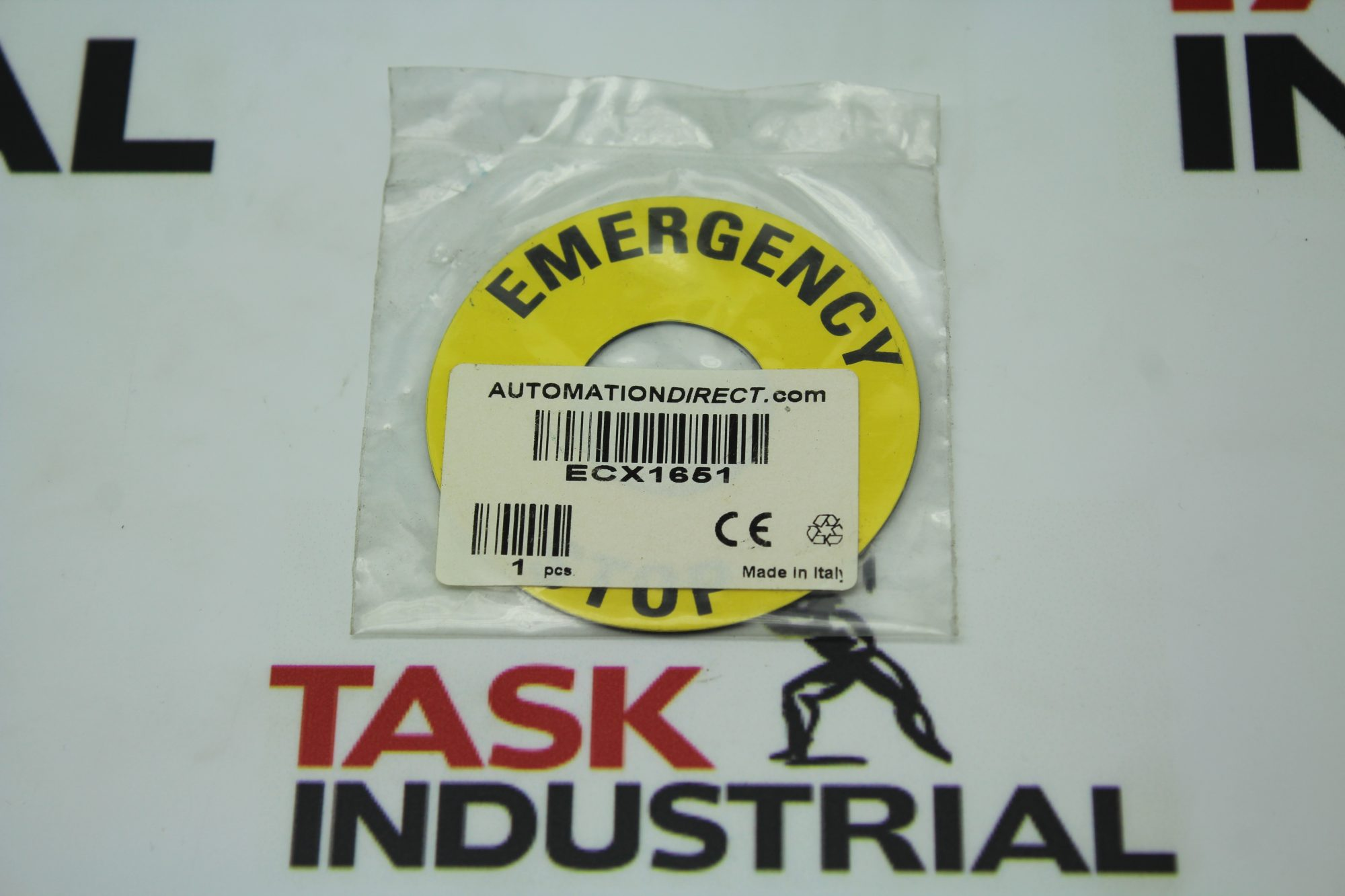 Automation Direct ECX1651 Emergency Stop Legend Plate