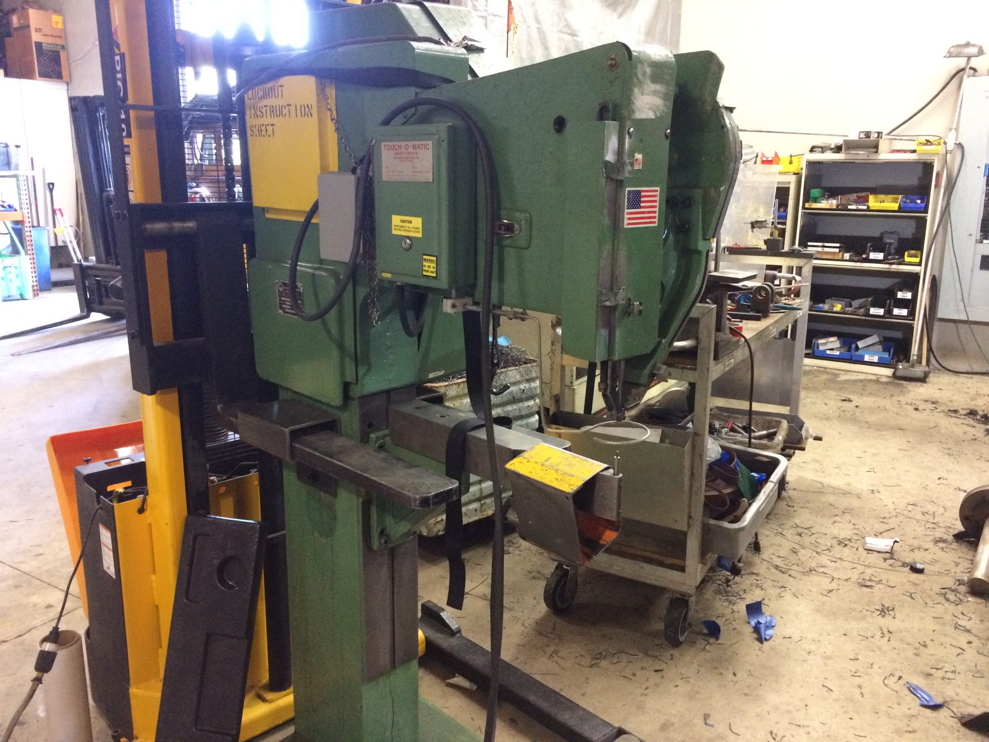 Milford Rivet & Machine CO. Model S-3-24-500 Serial 1851 Tooled for Rivet 511 X 125