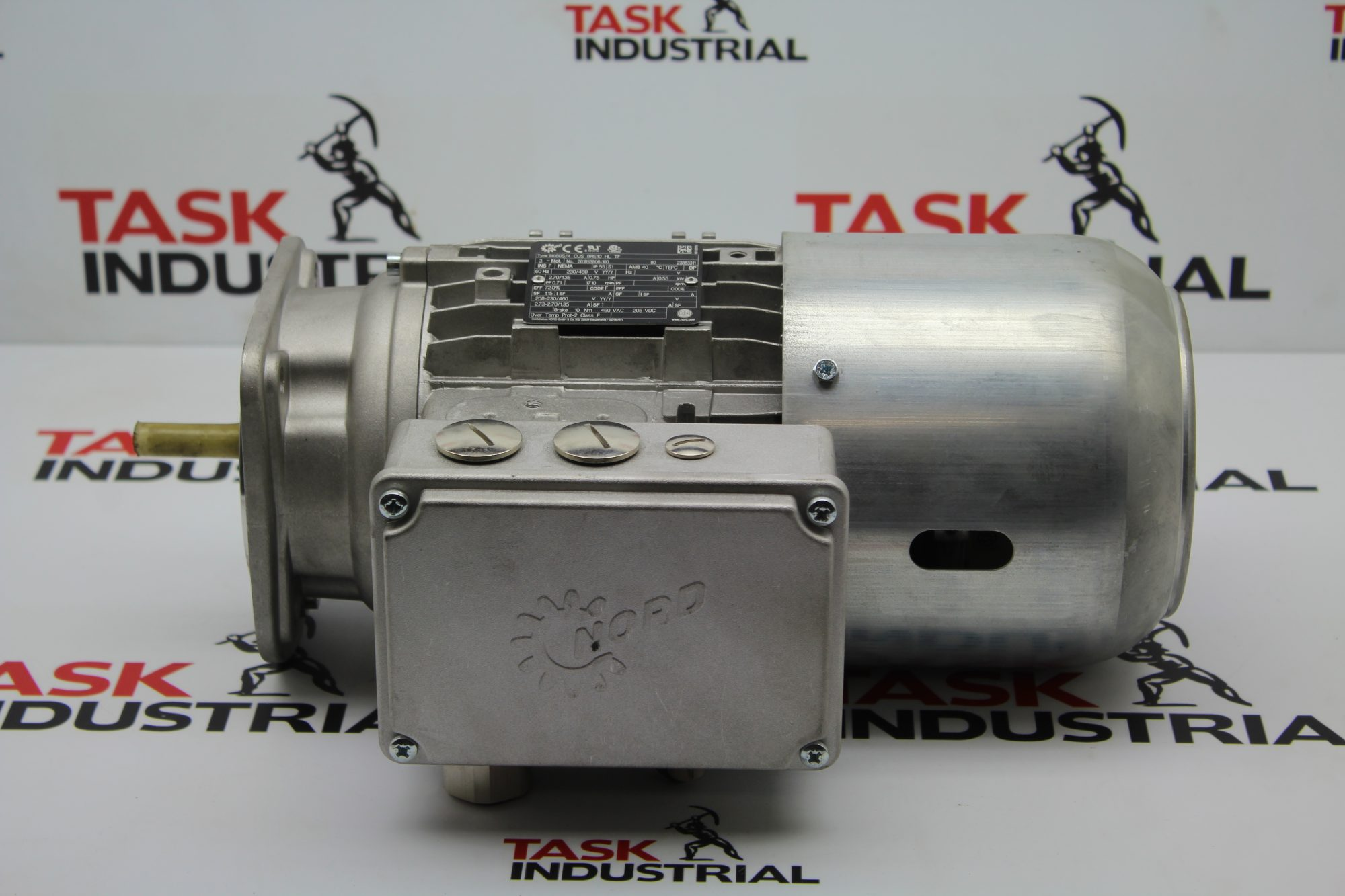NORD .75 HP, 1710 RPM Type SK80S/4 CUS BRE10 HL TF Electric Motor