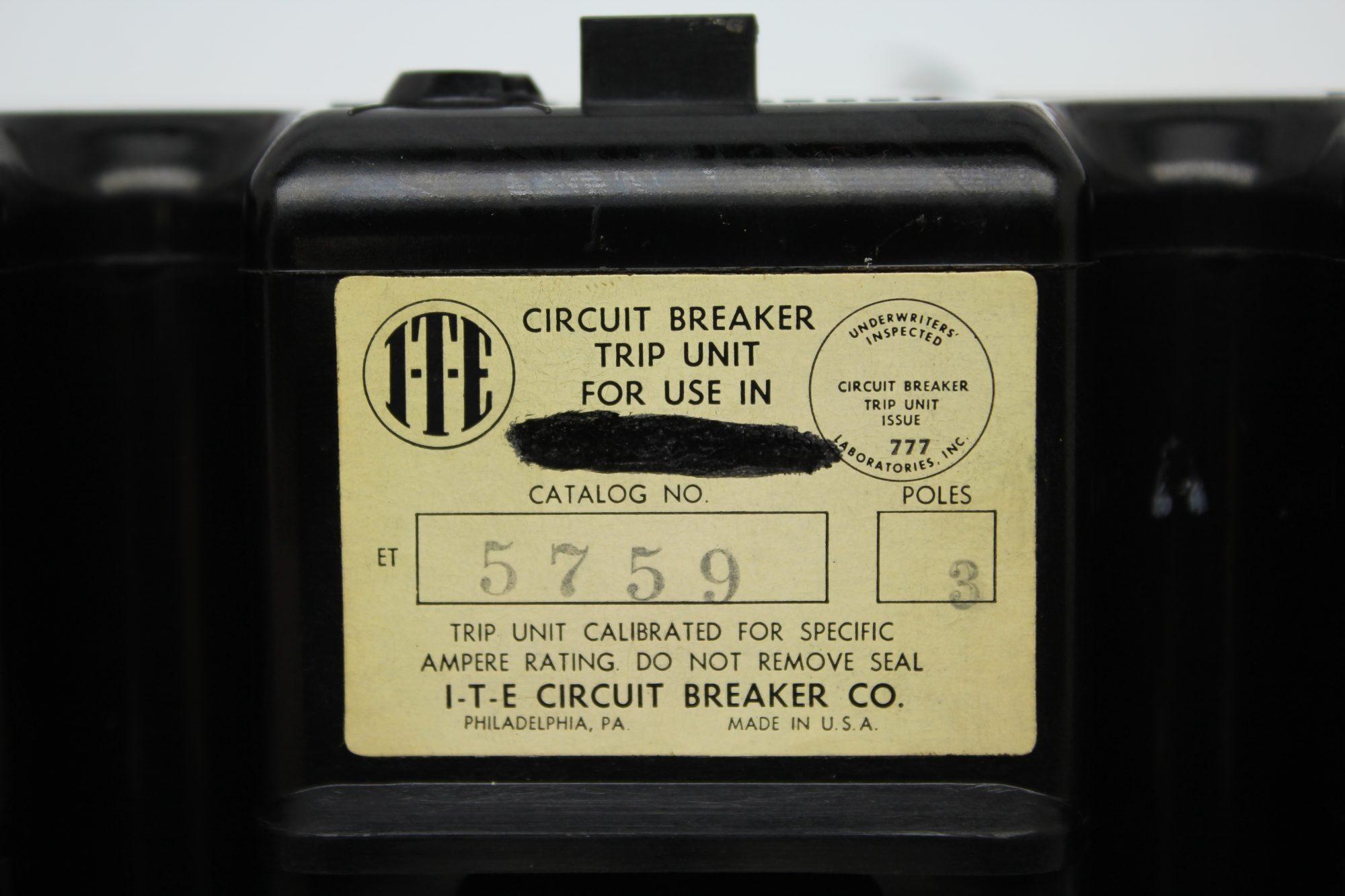 Siemens I T E Circuit Breaker Cat No 5759 3 Pole 400 Amp Details About 5sx21 C5 230 400v 5