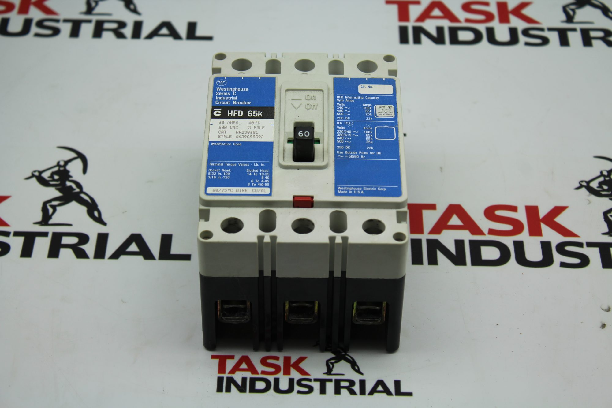 Westinghouse Series C Industrial Circuit Breaker HFD