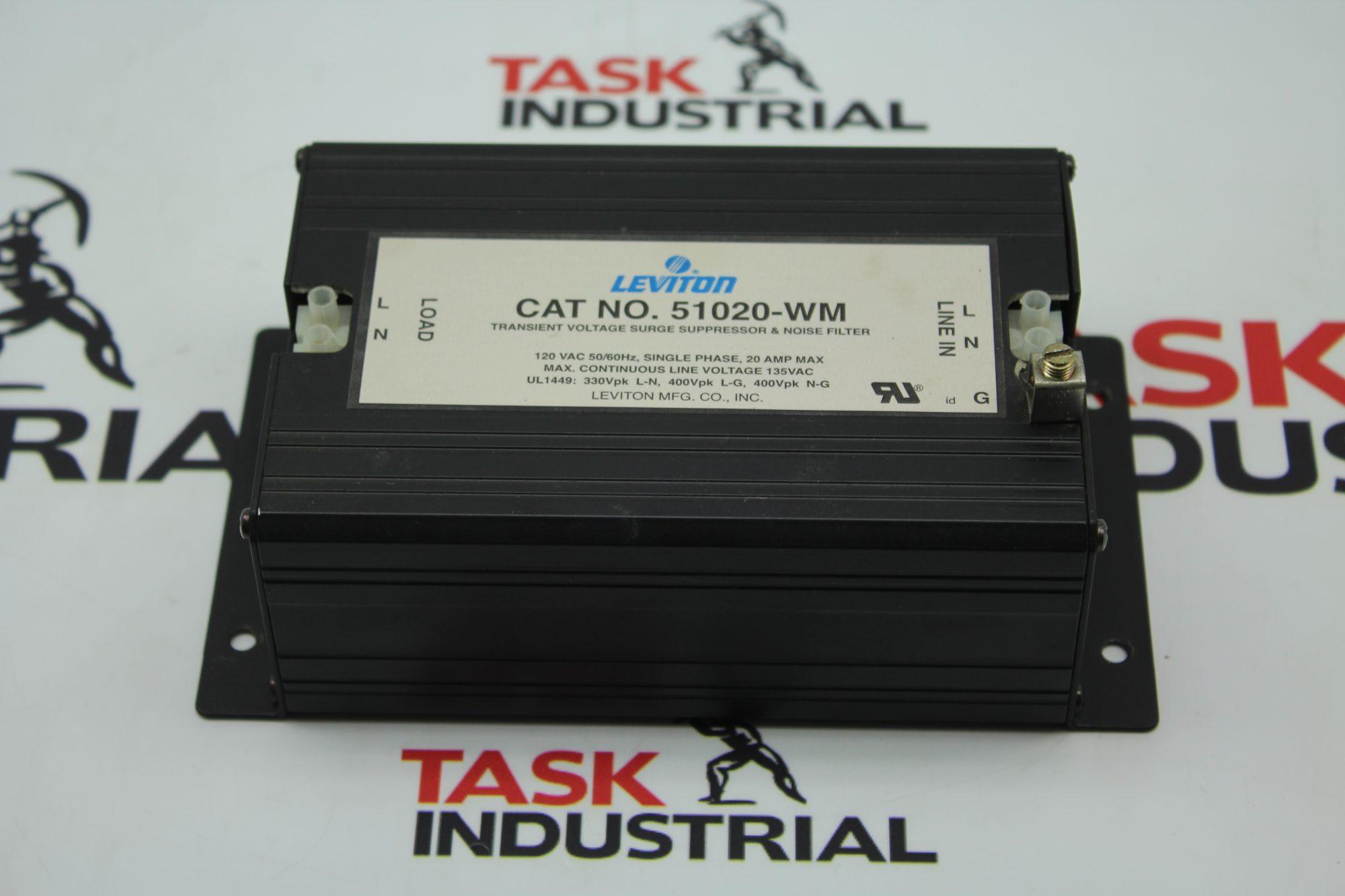 Leviton CAT No. 51020-WM Transient Voltage Surge Suppressor.