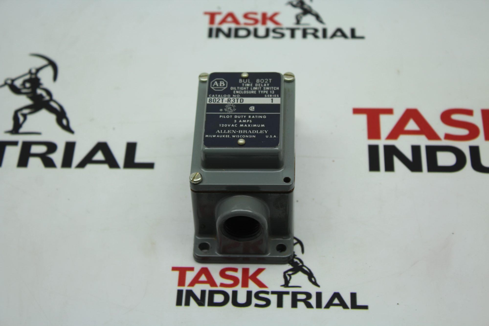Allen-Bradley Oiltight Limit Switch CAT No. 802T-R3TD Body.