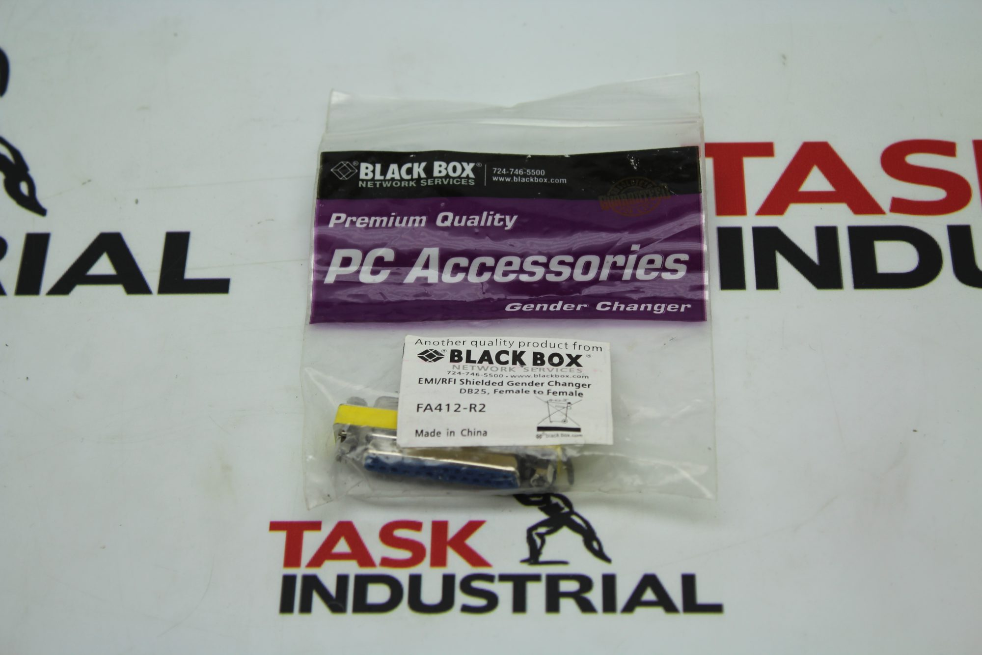 Black Box PC Assessories EMI/RFI Shielded Gender Changer DB25, Female to Female