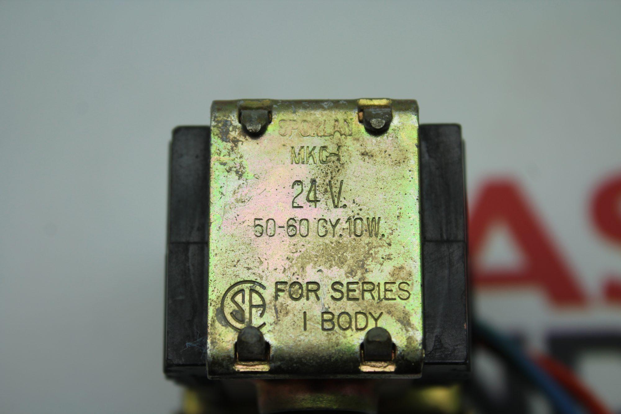 Sporlan Solenoid Coil MKG-1 24V Series 1 Body