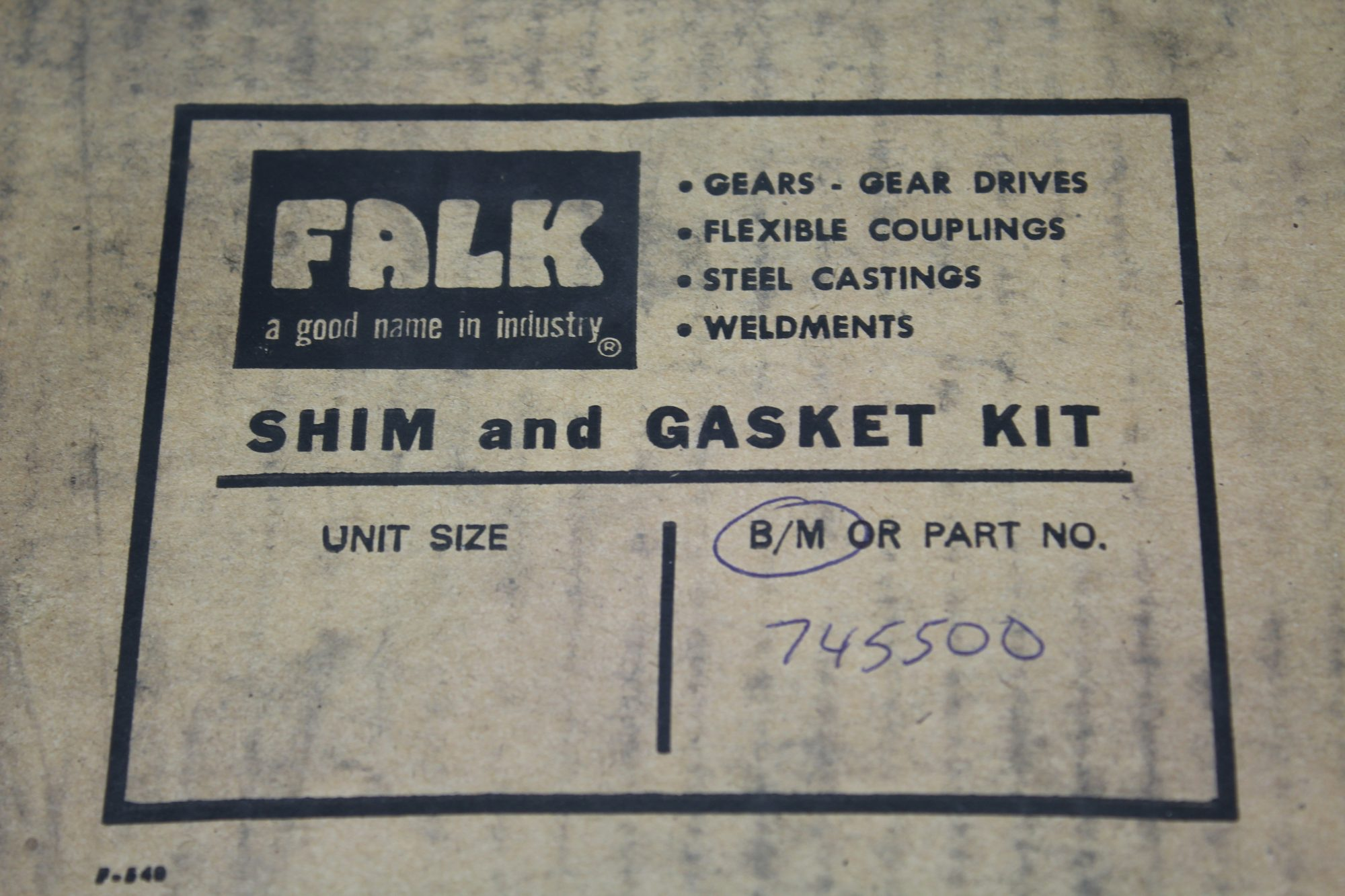 Falk 745500 Shim and Gasket Kit